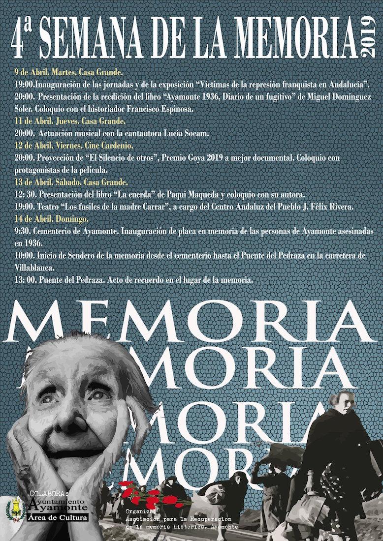 LV Jornadas de Memoria Historica en Ayamonte 2019