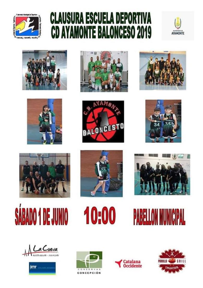 Clausura de la temporada del Club Deportivo Ayamonte Baloncesto