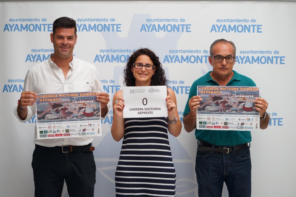 Presentación dorsal 0 de la carrera nocturna Aspreato de Ayamonte 2019