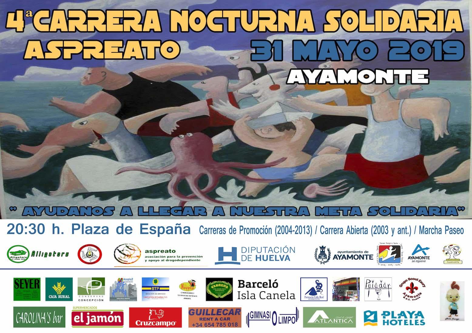 4 Carrera nocturna solidaria Aspreato Ayamonte