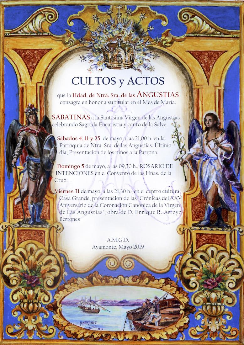 Cartel Cultos y Actos de las Angustías