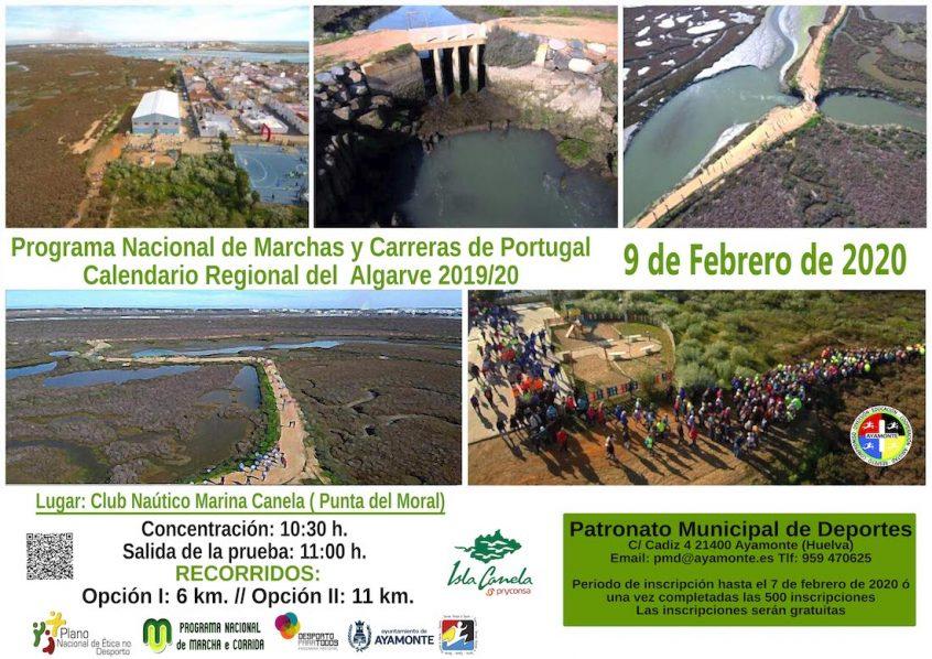 Cartel Ruta Senderismo Isla Canela
