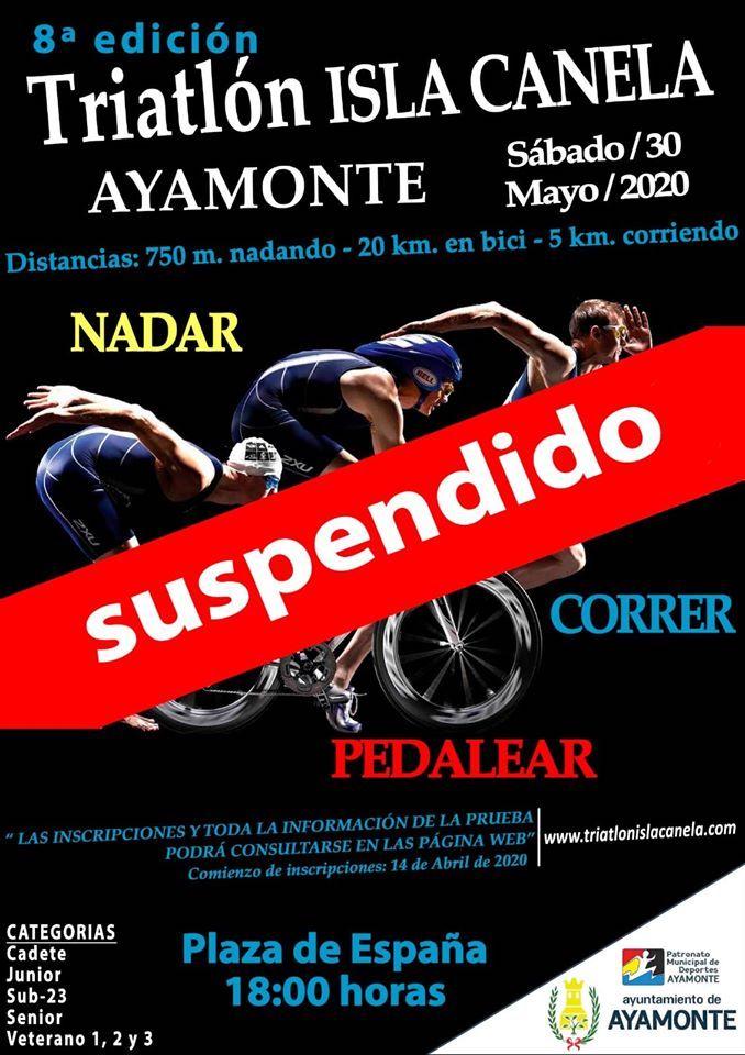 cartel-suspendido-triatlon-sprint-isla-canela-ayamonte